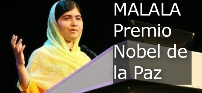 Malala Yousafzai recibe el Premio Nobel de la Paz