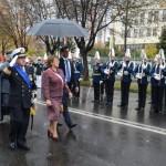 Bachelet dirigiéndose al tradicional mensaje del 21 de mayo. Foto: Gobierno de Chile