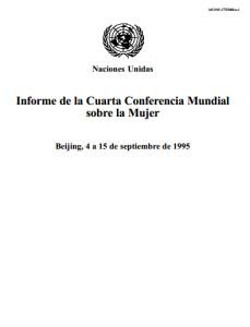 Portada del informe sobre Beijing 1995