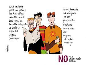 Imagen de la campaña contra la explotación sexual realizada por el Ministerio de Igualdad, con ilustraciones de Diana Raznovich