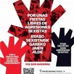 Imagen del Ayuntamiento de Pamplona contra las agresiones sexistas