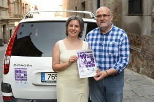 Más de 500 taxis de la región se unen a la campaña de sensibilización en contra de la violencia de género lanzada por el Instituto de la Mujer de Castilla-La Mancha. Foto:Instituto de la Mujer de Castilla La-Mancha
